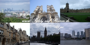 London, Westminster Abbey (London), Christ Church College (Oxford), Oxford, Big Ben (London), Canary Wharf (London)